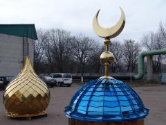 Heraldry and domes for Muslim temples and mosques