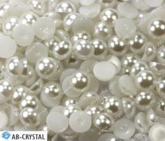 Pure White 6 mm. Semi-pearls glue