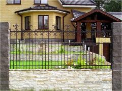Wrought-iron fences in Odessa to order