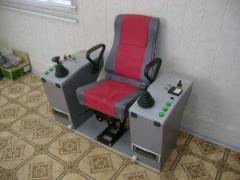 Кресло-пульт управления машиниста крановые