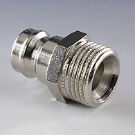 The plug of the tempering coupling without valve -