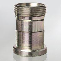 Pressure gauge valves, male - female/female, with test flange 60 x 25 x 10 - K-MANO ABSPV ZAPF SPAN MUF PRUEFFL