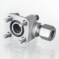 Glycerine-filled pressure gauges, connection on rear - K-GMM H