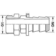 Штуцер шланга - K 47-54 / K 47-68
