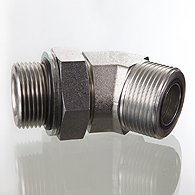 El tubo de empalme vvertnyy, la esquina 45 ° - W45