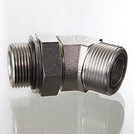 The screw union, corner 45 ° - W45 HMOK HJOF