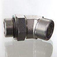 The screw union, corner 45 ° - W45 HROK HJOF