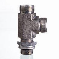 Поворотное резьбовое соединение, двойной угол 90°, подшипник скольжен. - DG D H