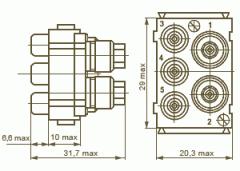 Розетка РПН23-5Г - соединители электрические
