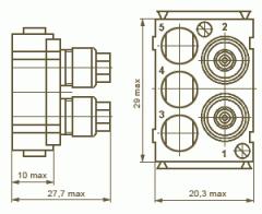 Розетка РПН23-5Г2 -соединители электрические