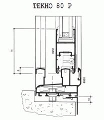 Алюминиевые профили ТЕКНО 80 Р - оконно-дверн