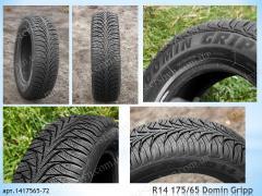 Зимние восстановленные шины R14 175/65 DOMIN GRIP