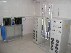 Systems of ozonization for sewage treatment of