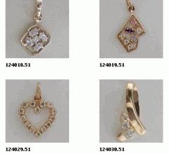 Підвіски золоті (Au), золото 585° проби з