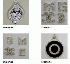 Подвески серебряные (Ag), серебро 925° пробы с