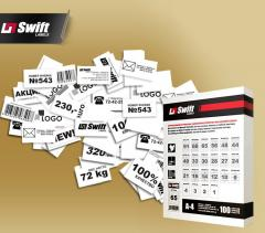 A4 paper self-adhesive for the press of labels on