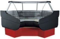 Angular refrigerating show-window of Belluno.