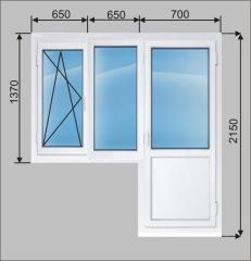 Балконный блок металлопластиковый TM Vitra - дверь