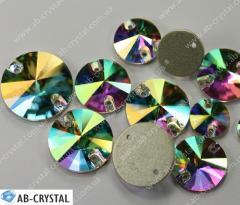 Crystal AV of 10 mm. Rivoli with a flat bottom