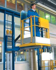 Lifting carts for the operator - for rise, and