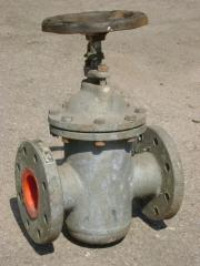 Latch flange ZKS-25, maple with a sliding spindle,