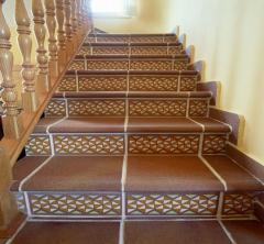 Steps for ladders from porcelain tile to order