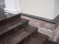 Steps for the house from marble and granite to
