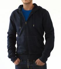 Jacket with a hood 605 blue