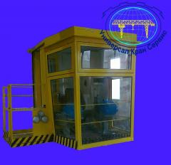 Cabin of the crane of goat electric