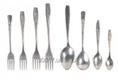Aluminum cast spoons and forks.