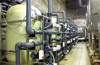 Systems of the industrial equipment for water treatmen