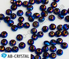 Bead Blue PT rondel of 3/4 mm