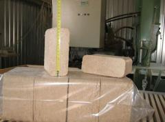 Fuel briquettes of the RUF (RUF) standard from