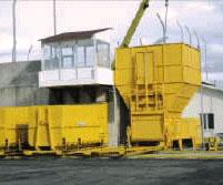 Transshipment stations for transportation of waste