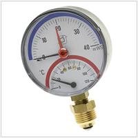 Термоманометр аксиальный и радиальный