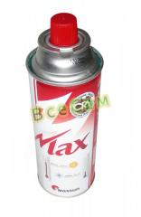 Disposable gas cylinder of 0.22 l