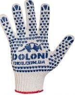 Gloves knitted with PVC drawing art. 547