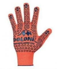 Gloves knitted with PVC point art. 526