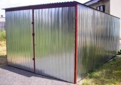 Garages metal, galvanized