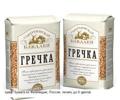 Package paper for grain Packages paper with the
