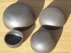 Caps steel welded elliptic Du25 Du200