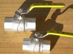 Cranes spherical brass gas muftovy Du15 Du20 Du25
