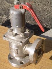 Locking safety valve corrosion-proof flantsevyy