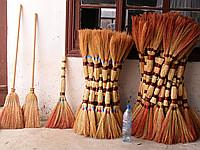 Sorghum broom in assortment (euro, luxury, with a