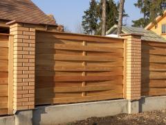 Деревянные заборы для дачи от производителя