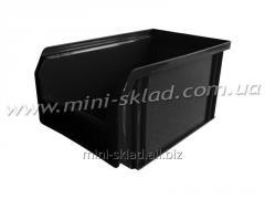Plastic box warehouse 701 black
