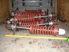 Pressing device of the tuyere apparatus