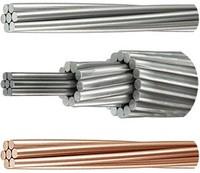 Провод неизолированный, скрученный из алюминиевых