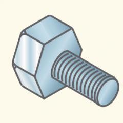 Болт 10х20, оцинкованный H10x20EZ (648046) Tolmega