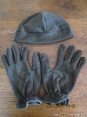 Пошив зимних комплектов,  шапка и рукавицы
